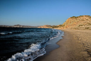 Beach on Milos (image by cosmix from Pixabay)