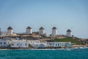 Windmills of Mykonos (image by Andrea Spallanzani from Pixabay)