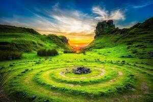 Isle of Skye at dusk