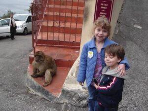 Making new friends in Gibraltar
