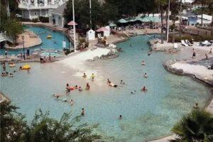 Enjoy the sand-bottom pool at Stormalong Bay