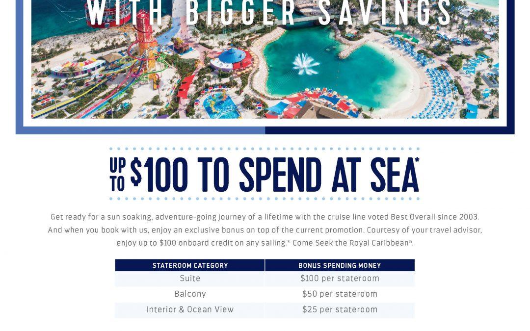 Exclusive Royal Caribbean special